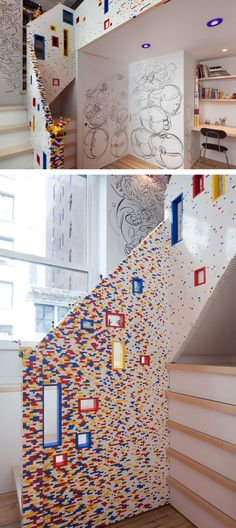 Lego House - Lego Staircase / Lego Living Room - Marks/Caride Residence by I-Beam Architecture & Design ( interror design / innovative home / fun home decore / unique home )