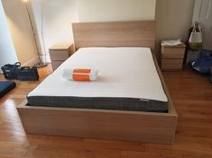Ikea bed frame and mattress are ready for use!