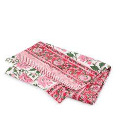 Floral Vine Tablecloth- Pink