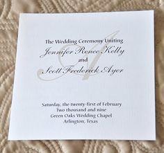 Wedding program ideas - favorite!