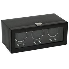 Wolf Designs 270202 Heritage Module 2.1 Triple Watch Winder with Cover | Your #1 Source for Watches and Accessories