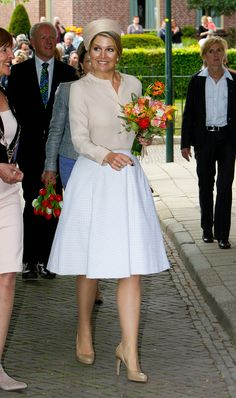 Queen Máxima in the same Natan outfit one month ago in Achterhoek.