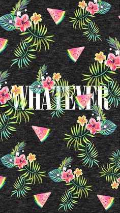 Whatever / tropical watermelon wallpaper