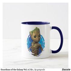 Guardians of the Galaxy Vol. 2 | Groot Turning Mug. Regalos, Gifts. Producto disponible en tienda Zazzle. Tazón, desayuno, té, café. Product available in Zazzle store. Bowl, breakfast, tea, coffee. #taza #mug
