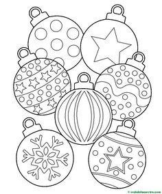 Dibujos Para Colorear De Bolas De Navidad Plantillas Para Colorear