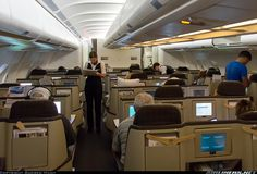 Swiss International Airlines Airbus A340-313 business class cabin