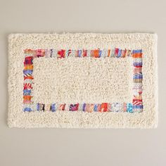 One of my favorite discoveries at WorldMarket.com: Ivory Nomad Recycled Fabric Bath Mat