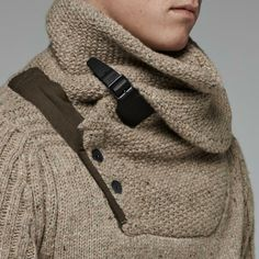G-Star RAW-Contrast Shawl Collar Knit-Men-Knitwear