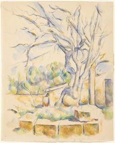 """thusreluctant: """" Pistachio Tree at Château Noir by Paul Cézanne """""""