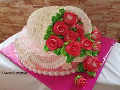 Личное фото Beautiful Cakes, Amazing Cakes, Ruffle Cake, Cake Decorating Tips, Buttercream Cake, Fancy Pants, Dessert Recipes, Desserts, Cupcake Cookies