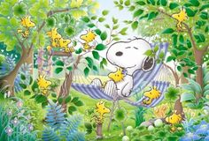 Image detail for -... Jigsaw Puzzle 10-839 Peanuts Snoopy Sleep in a Hammock (1000 Pieces
