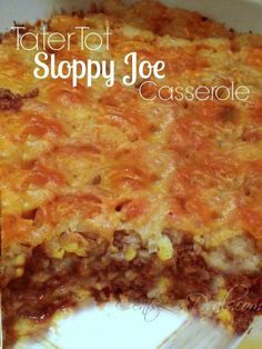 Sloppy Joe Tater Tot Casserole recipe...