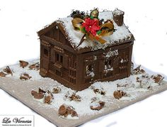 casitas de chocolate navideñas - Buscar con Google