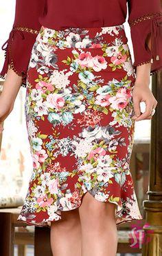 Moda evangelica saias jeans 55 ideas for 2020 Modest Long Skirts, Short Dresses, Kids Frocks, European Fashion, Skirt Outfits, Fashion Outfits, Womens Fashion, Simple Dresses, African Fashion