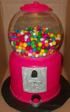 gumball 3D cake!! awesome but is that real glass?....