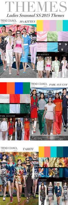 Trend council Spring/Summer 2015 themes