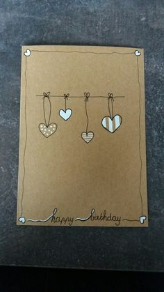 The post appeared first on Charlotte Thompson. Cardboard Crafts, Fabric Crafts, Diy Birthday, Birthday Cards, Birthday Card Drawing, Karten Diy, Diy Cards, Homemade Cards, Envelopes