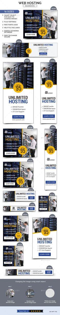 Web Hosting Banners Template #design Download: http://graphicriver.net/item/web-hosting-banners/12155121?ref=ksioks