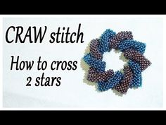 CRAW stitch Bead - How to cross 2 shapes together - Cubic Right Angle Weave Tutorial with beads - YouTube