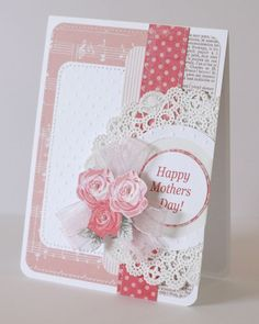 Hi! Today I just wanted quickly share a few cards that I made for Mother's Day. I made three yesterday and two more this morning. I don't ...