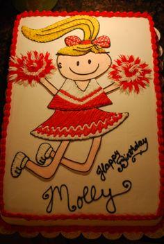 cheerleading cake | Cheerleader Cake!