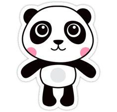 Cute panda sticker from Redbubble