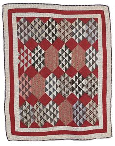Early Crib Quilt, - Cowan's Auctions