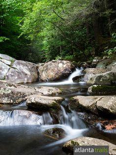 Hike the Emery Creek Falls Trail to two of Georgia's most beautiful, remote waterfalls