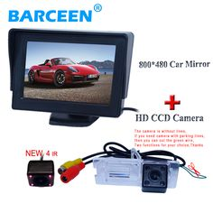 "4.3"" Desktop car rear  monitor with car reversing  camera bring wide viewing angle suitable for Renault Fluence/Megane"