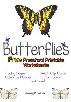 Looking for free preschool printable worksheets for your kids to welcome Spring or simply to study butterflies? Try these worksheets that I made for my daughter! Free Preschool, Preschool Themes, Preschool Science, Preschool Printables, Free Math, April Preschool, Free Printable Math Worksheets, Reading Worksheets, Montessori