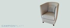 *Crystalline Collection: Cloud Club Chair* A tall curving club chair in Thai silk with walnut feet