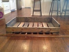 """Solid Wood """"pallet style"""" dog bed 