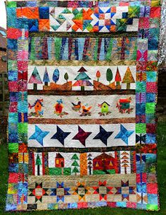 ~Angela's Textile Art~: Sew-a-Row Quilt