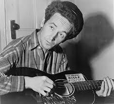 Tener esa frase en la guitarra. Woody Guthrie, primer rockero de la historia.