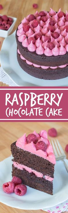 Simple and elegant, this raspberry chocolate layer cake blends rich, decadentchocolate with tart, sweet raspberries. Raspberry liqueur adds a fruity backdrop to the chocolate cake layers, while raspberry jam and raspberry buttercream add bright sweetness.