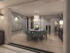 Apartment of 250m2 in Shanghai Pudong. Designed by TRIBEKA, Baptiste Bohu & Kostas Chatzigiannis