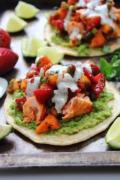 Barbecue Salmon Tostadas #cincodemayo