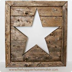 DIY Wall Decor | Wooden Star Cutout Wall Décor {Pottery Barn knock off}