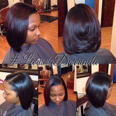Loving This Silk Press - Black Hair Information Community Love Hair, Gorgeous Hair, Silk Press Hair, Pressed Natural Hair, Curly Hair Styles, Natural Hair Styles, Natural Beauty, Bob Hairstyles, Mixed Hairstyles