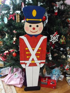 Teds Woodworking® - Woodworking Plans & Projects With Videos - Custom Carpentry Christmas Yard Art, Christmas Yard Decorations, Christmas Wood Crafts, Nutcracker Christmas, Outdoor Christmas, Christmas Projects, Holiday Crafts, Christmas Crafts, Christmas Ornaments