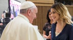 Tini beim Papst Franziskus ☺