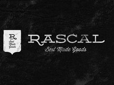 Rascal Logo – Designed by Justin Hall (Using Deming and Wisdom Script from Lost Type Co-Op)