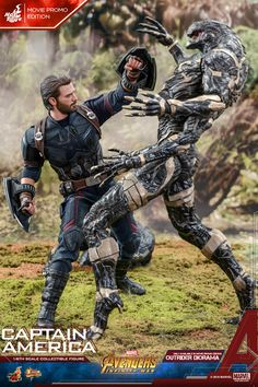 Hot Toys Avengers: Infinity War scale Captain America Images & Info With Outrider Diorama & Mystery Weapon Captain America Images, Captain America Suit, Chris Evans, Steve Rogers, Capitan America Marvel, Captain America Action Figure, Avengers Team, Super Soldier, Avengers Infinity War