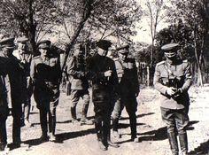 Gh. Gh.-Dej, Emil Bodnăraş, L. Sălăjan, Nicolae Ceauşescu etc la o manevră militară. (1950) Enver Hoxha, Political Prisoners, First World, Military