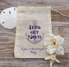 10 Nautical favor bags bachelorette party favor by EverlongEvents