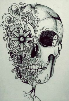 Skull art drawings group with items Tattoo Drawings, Pencil Drawings, Art Drawings, Pencil Tattoo, Flower Drawings, Pretty Drawings, Catrina Tattoo, Tattoos Familie, Totenkopf Tattoos