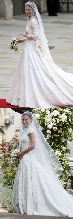 May 20, 2017 - The veil. - Pippa Middleton's Wedding That Are Exactly the Same as Kate Middleton's Wedding - WomansDay.com