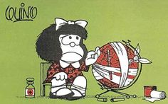 Mafalda! Ok, she is Argentinian, not Mexican, but my friends and I loved to read this comic; it brings me lots of happy memories from my childhood in Mexico...