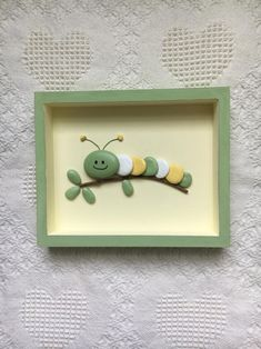 Caterpillar Decor Caterpillar Art Framed Pebble Art Nursery Wall Hanging Baby Shower Gift Kid S Room Wall Art Painted Stones - Painting new york Pebble Painting, Pebble Art, Stone Painting, Pebble Beach, Stone Crafts, Rock Crafts, Arts And Crafts, Resin Crafts, Felt Crafts