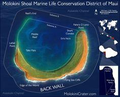 Molokini Snorkeling Map